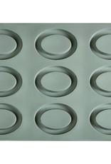 Pavoni Pavoni - Gourmand silicone mold, Ovale (9 cavity), GG007