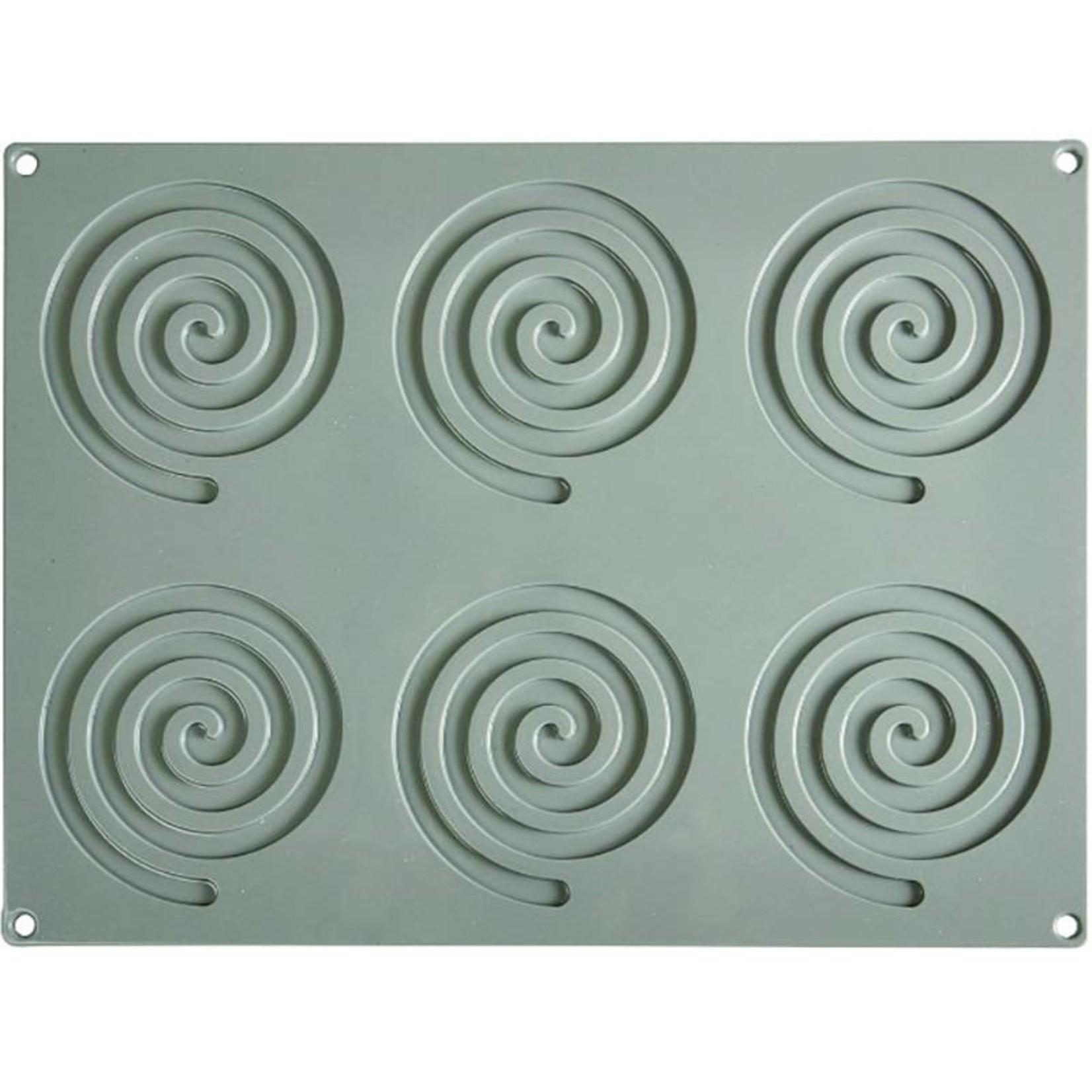 Pavoni Pavoni - Gourmand silicone mold, Spirale (6 cavity), GG005
