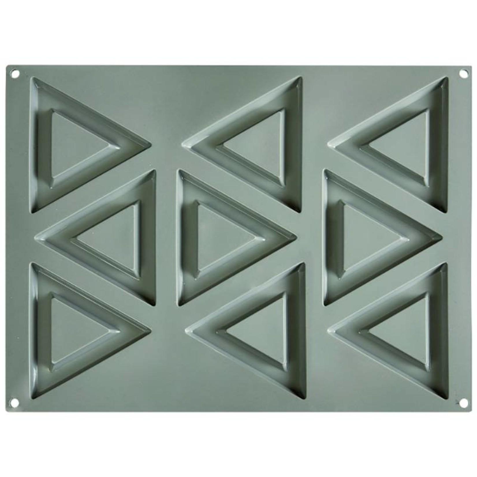 Pavoni Pavoni - Gourmand silicone mold, Triangolo (9 cavity), GG008