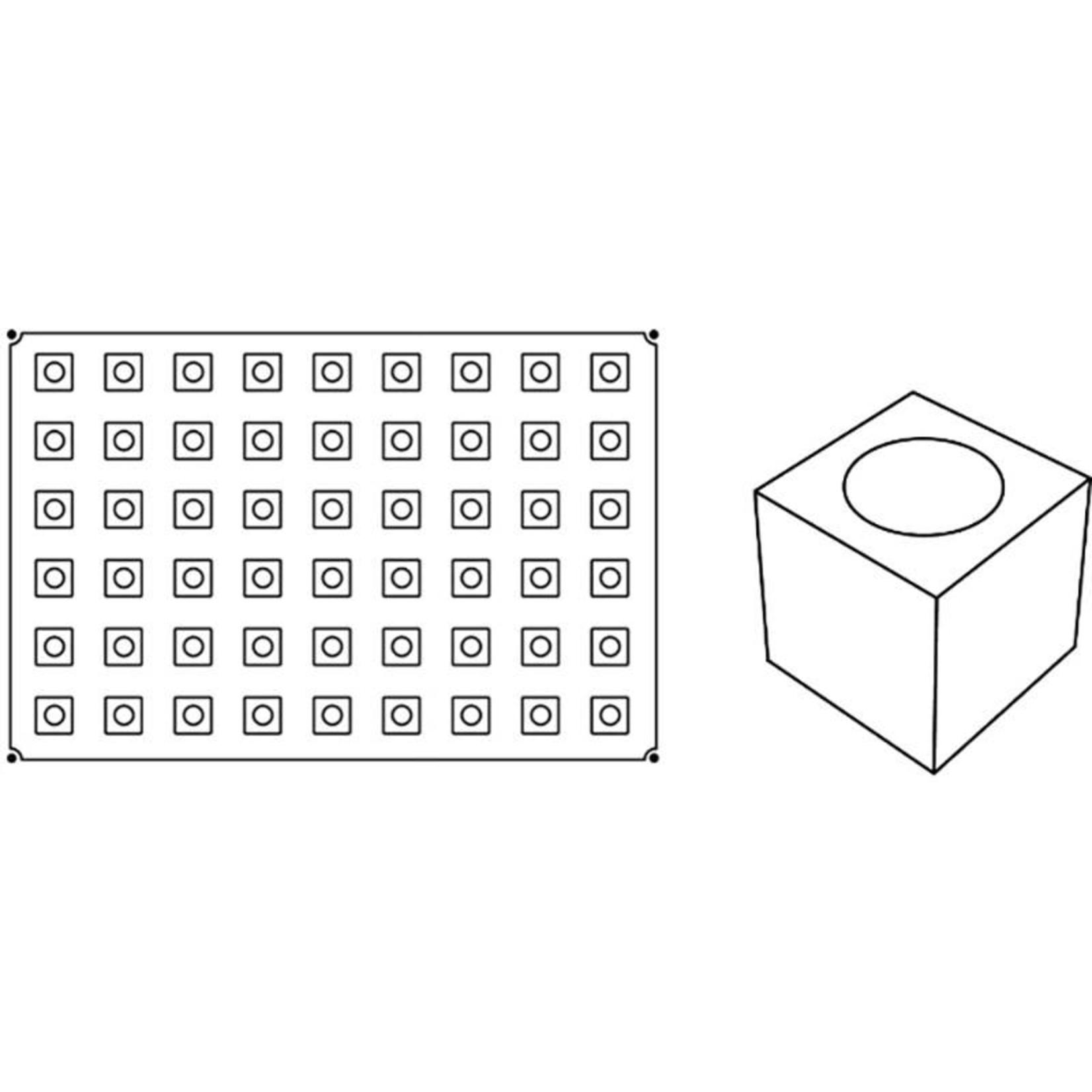 Pavoni Pavoni - Pavoflex silicone mold, Cubo, Mignon (54 cavity), PX012