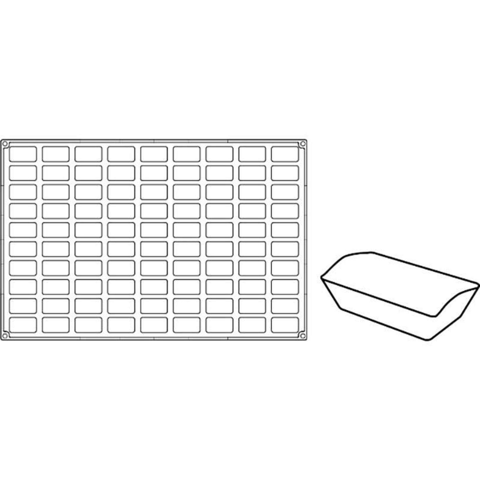 Pavoni Pavoni - Pavoflex silicone mold, Mini finanziere, Mignon (90 cavity), PX306