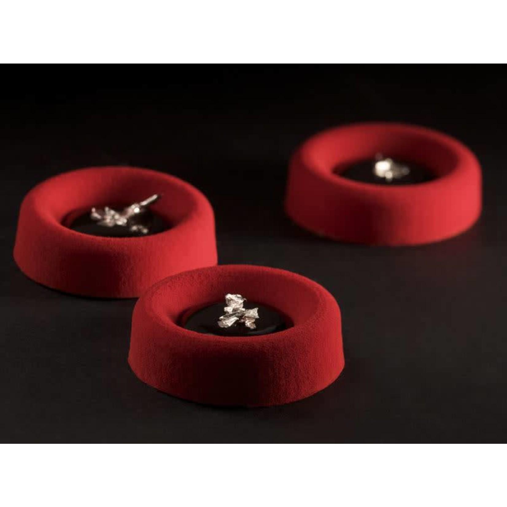 Pavoni Pavoni - Pavoflex silicone mold, Savarin circle, Mignon (77 cavity), PX045