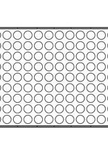 Pavoni Pavoni - Pavoflex silicone mold, Semisfera, Mignon (126 cavity), PX304