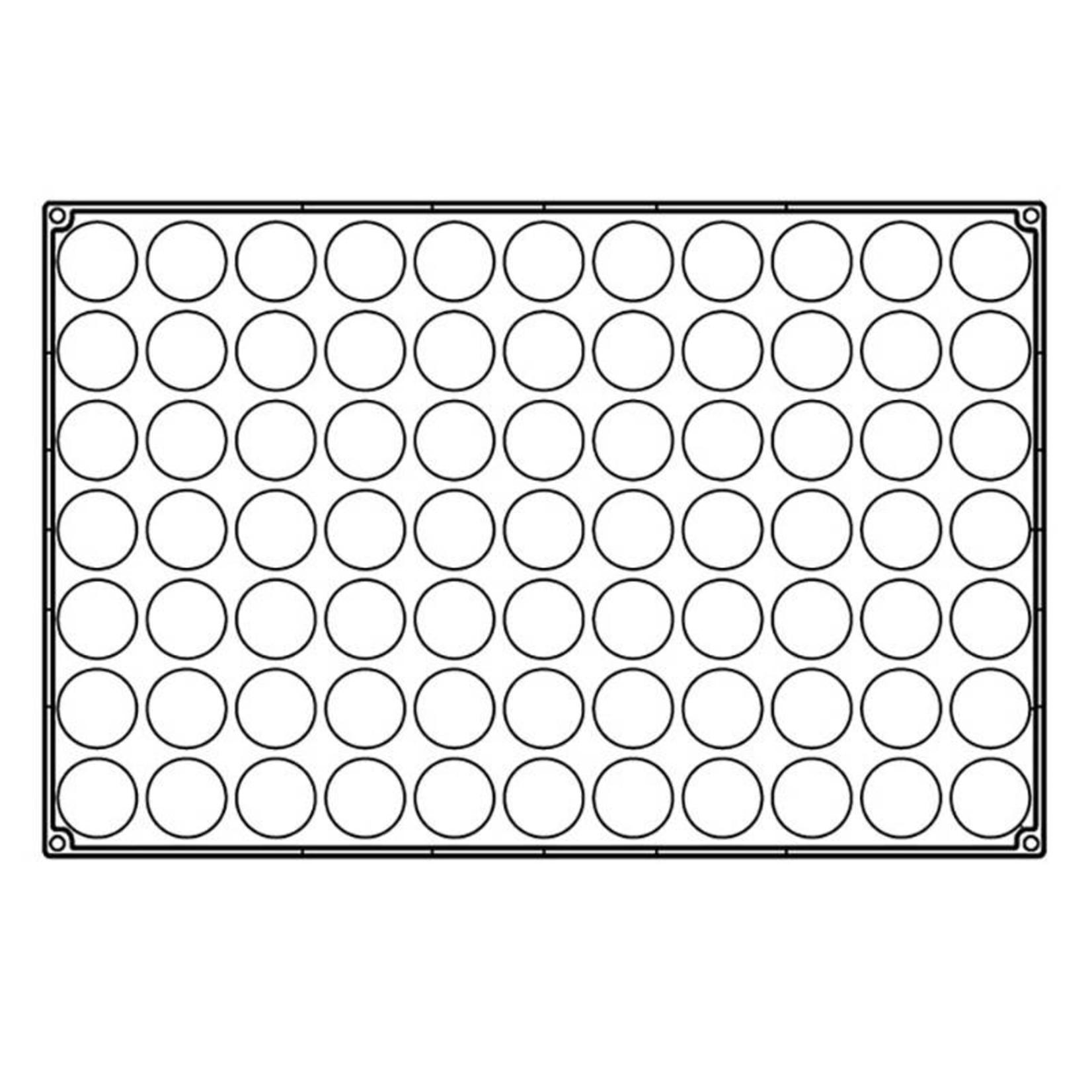 Pavoni Pavoni - Pavoflex silicone mold, Semisfera, Mignon (77 cavity), PX303