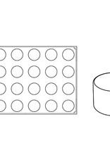 Pavoni Pavoni - Pavoflex silicone mold, Cilindro, Monoporzione (24 cavity), PX057