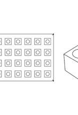 Pavoni Pavoni - Pavoflex silicone mold, Cubo, Monoporzione (28 cavity), PX007