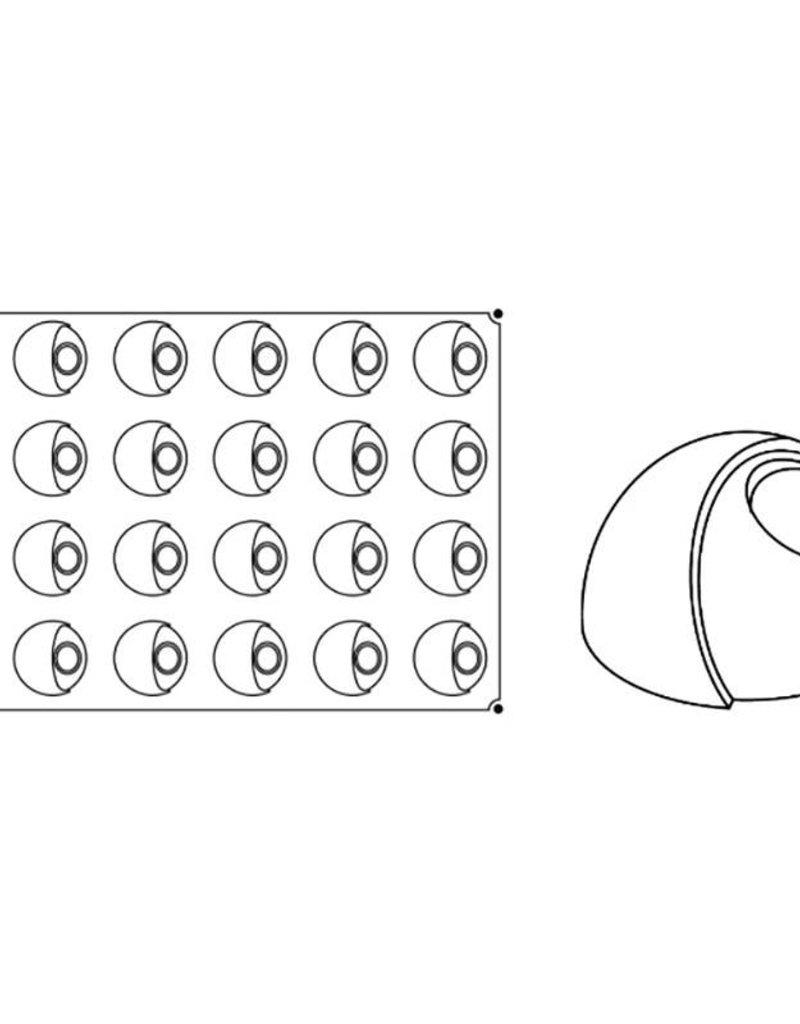 Pavoni Pavoni - Pavoflex silicone mold, Eclisse, Monoporzione (24 cavity), PX029