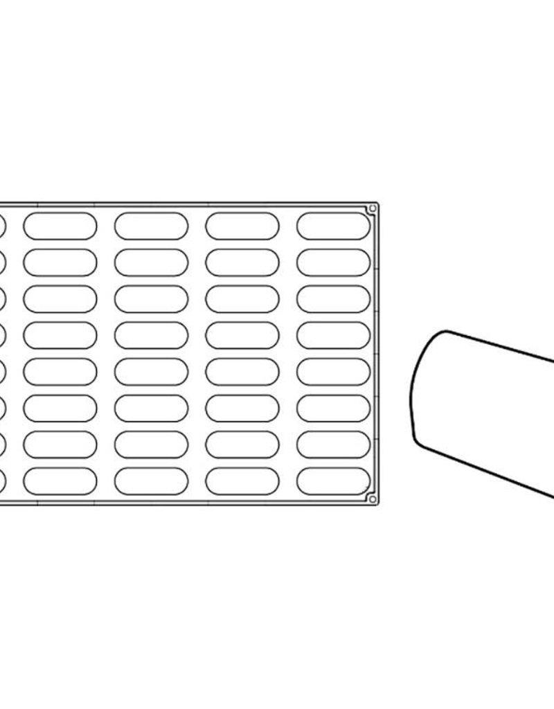 Pavoni Pavoni - Pavoflex silicone mold, Gianduiotto, Monoporzione (40 cavity), PX068