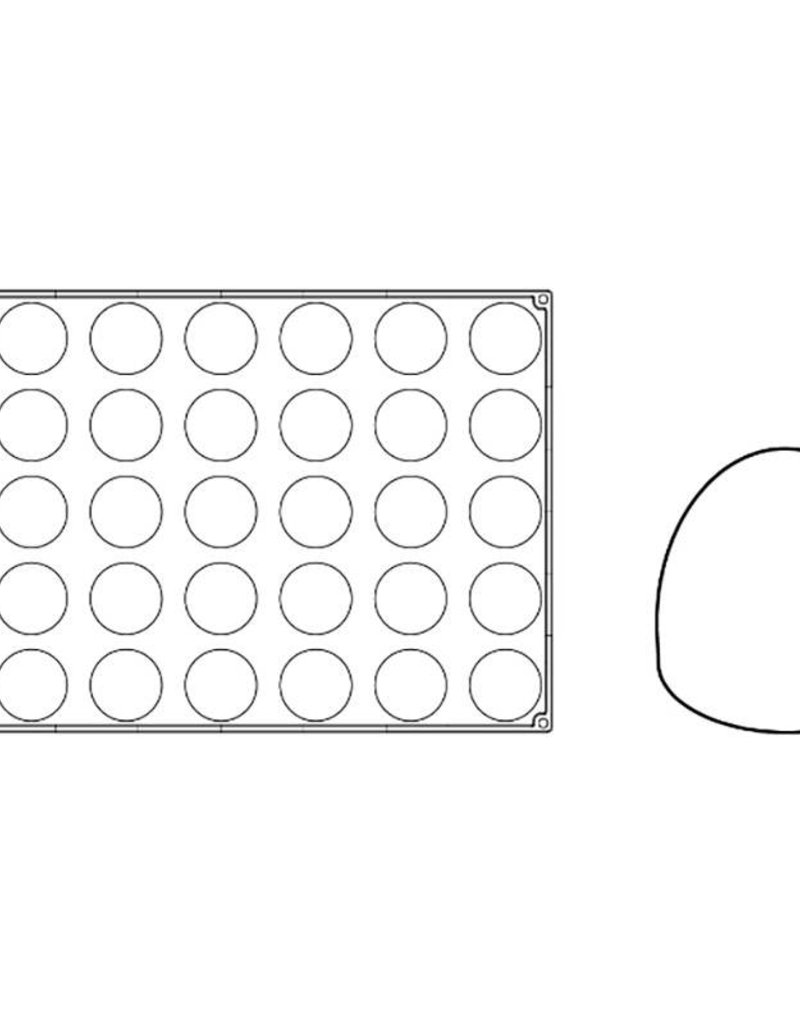 Pavoni Pavoni - Pavoflex silicone mold, Kupola, Monoporzione (35 cavity), PX065