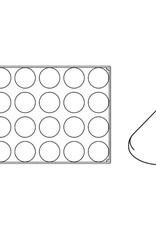 Pavoni Pavoni - Pavoflex silicone mold, Levante, Monoporzione (24 cavity), PX069