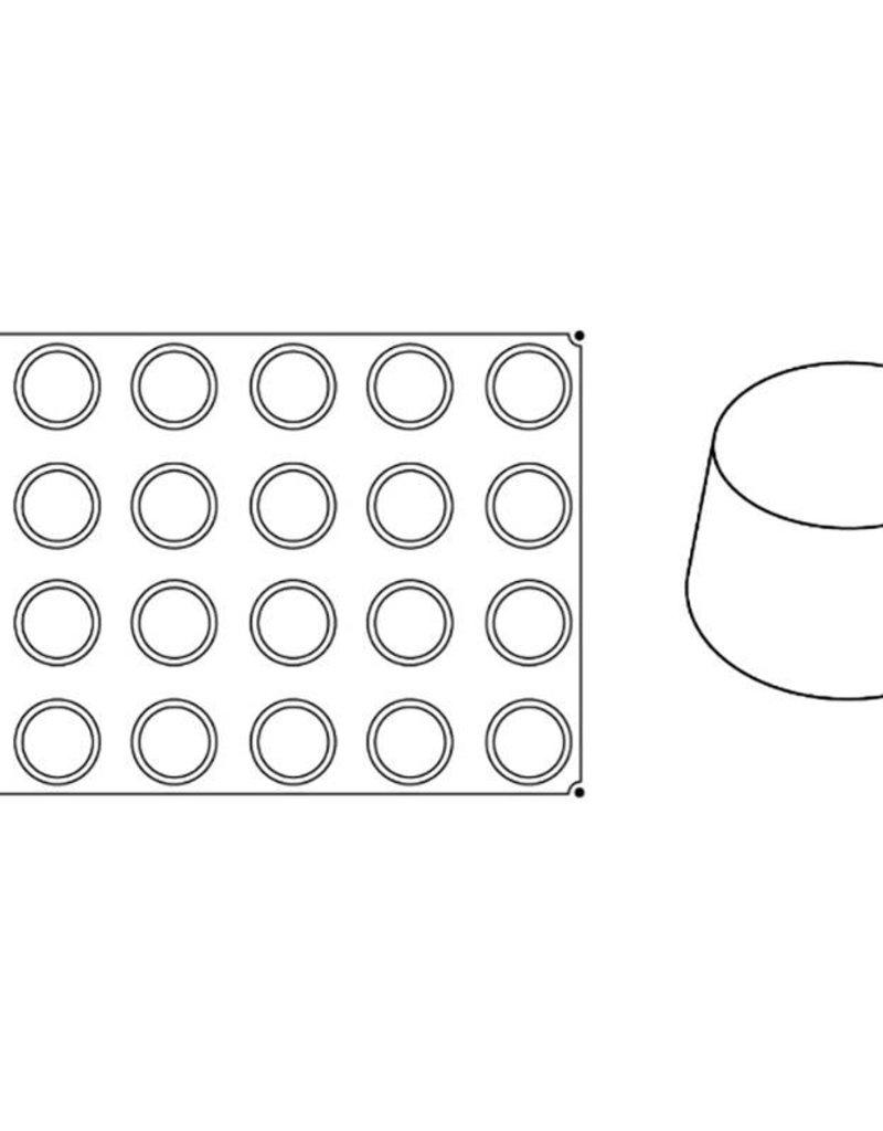 Pavoni Pavoni - Pavoflex silicone mold, Muffin, Monoporzione (24 cavity), PX002