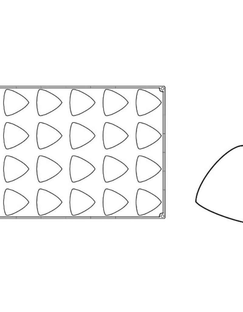 Pavoni Pavoni - Pavoflex silicone mold, Trilo, Monoporzione (24 cavity), PX066