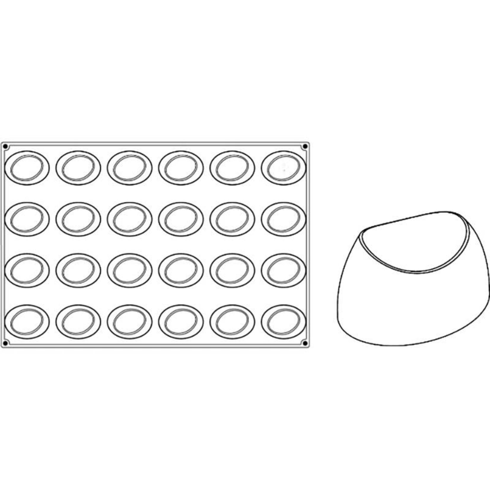 Pavoni Pavoni - Pavoflex silicone mold, Wave, Monoporzione (24 cavity), PX064
