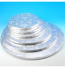 "Enjay Enjay - Cake drum - 1/2"" round, Silver (box of 6) -"