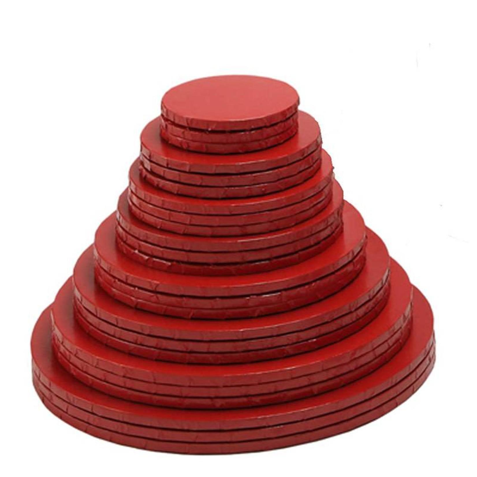 """Enjay Enjay - Cake drum - 1/2"""" round, Red -"""