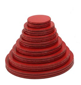 "Enjay Enjay - Cake drum - 1/2"" round, Red -"