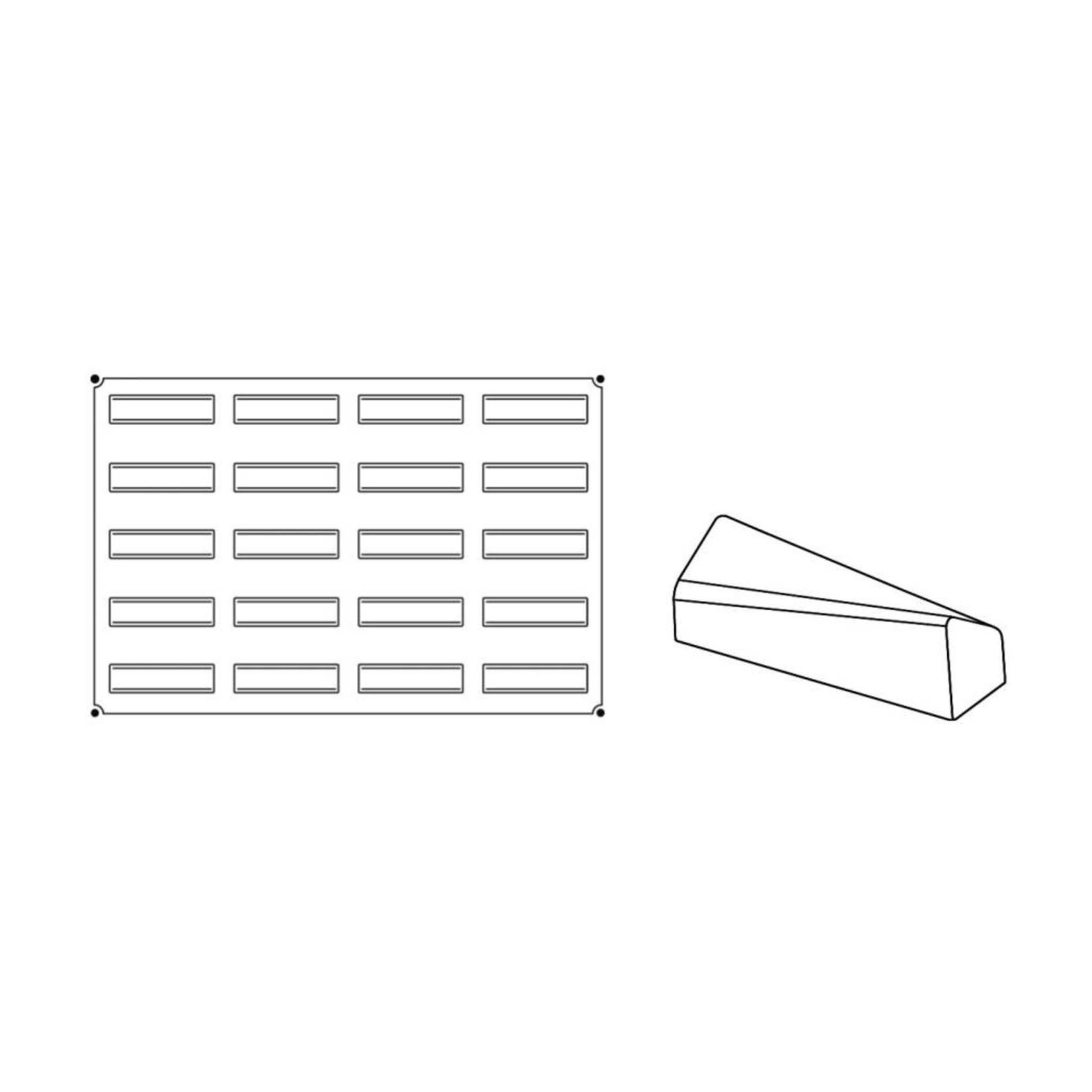 Pavoni Pavoni - Pavoflex silicone mold, Soft, Monoporzione (20 cavity), PX025