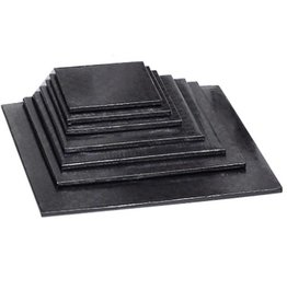 "Enjay Enjay - Cake drum - 1/2"" square, Black (box of 6) -"