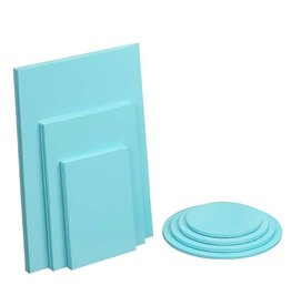 "Enjay Enjay - Cake drum - 1/2"" square, Blue (box of 6) -"