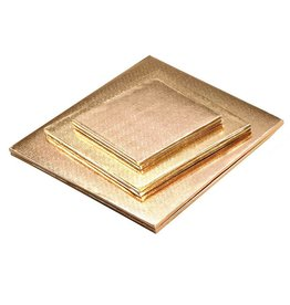 "Enjay Enjay - Cake drum - 1/2"" square, Gold (box of 6) -"
