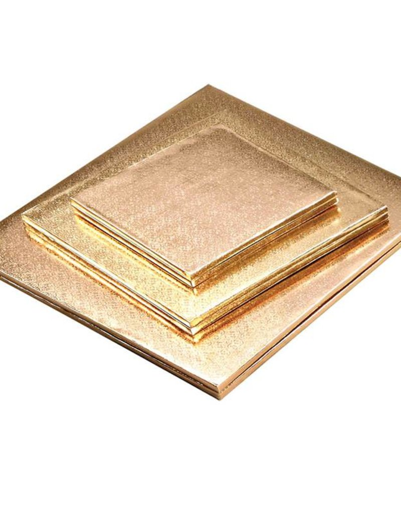 "Enjay Enjay - Cake drum - 1/2"" square, Gold -"