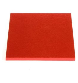"Enjay Enjay - Cake drum - 1/2"" square, Red -"