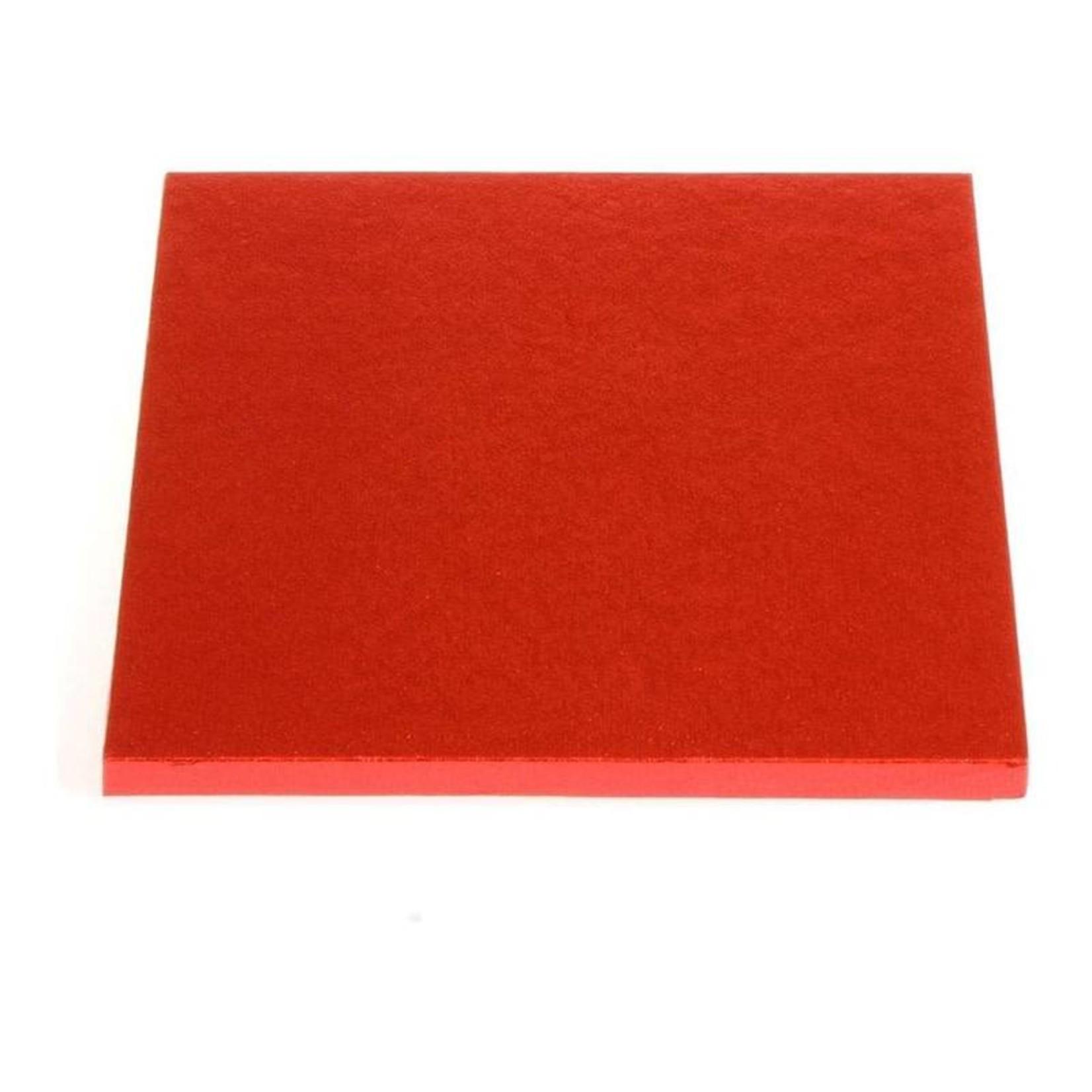 "Enjay Enjay - Cake drum - 1/2"" square, Red -"