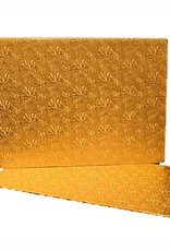 Pastry Depot Cake board - Gold foil log pad - 11.75x5.75''