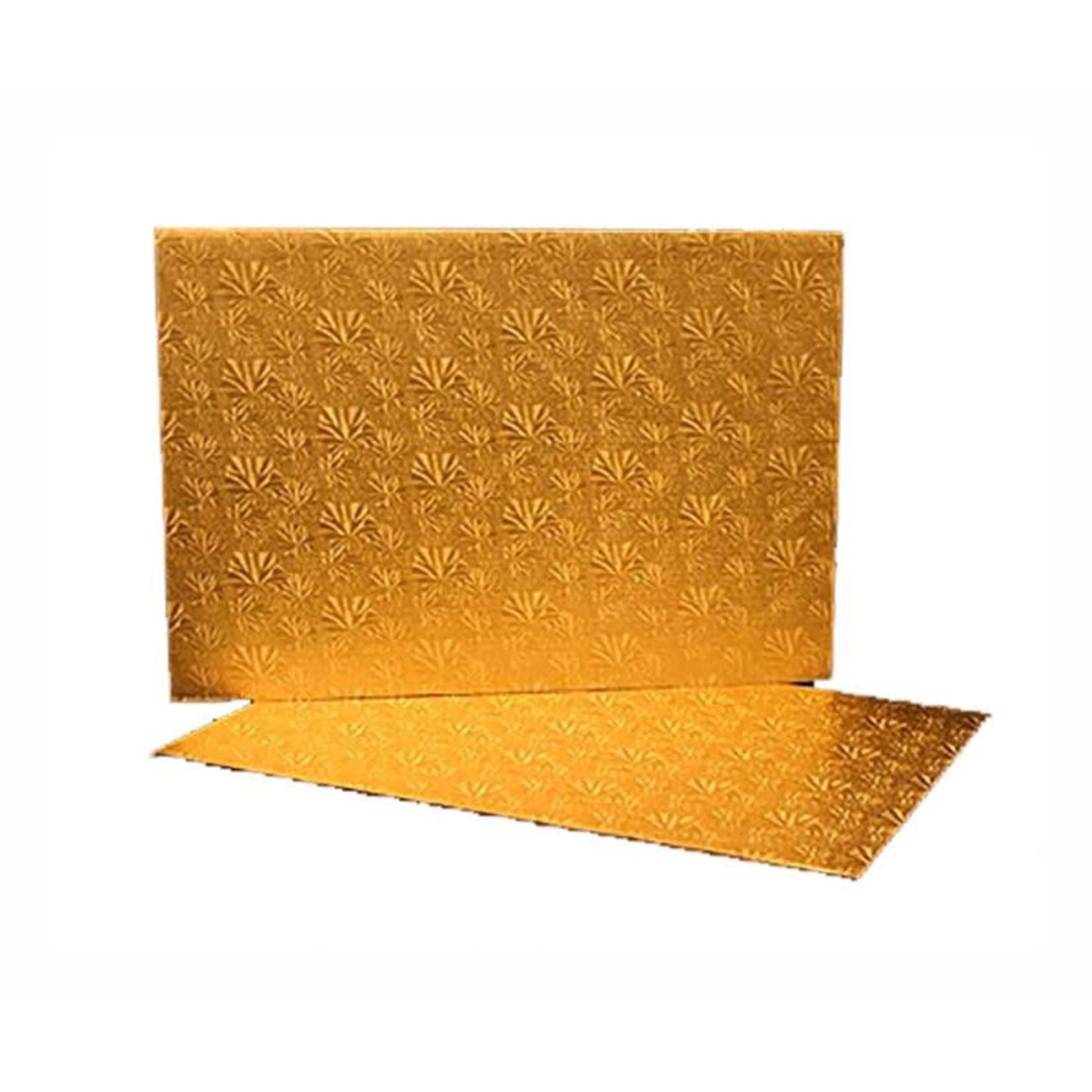 Pastry Depot Cake board - Gold foil log pad - 11.75x5.75''