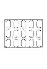 Pavoni Pavoni - Pavoflex silicone mold, Delish (15 cavity), PX4356