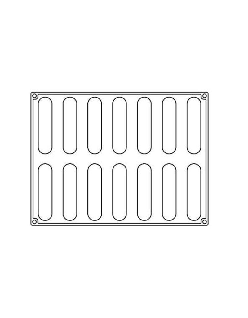 Pavoni Pavoni - Pavoflex silicone mold, Pastel (14 cavity), PX4353