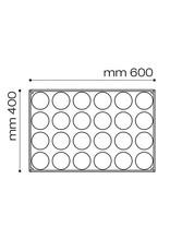 Pavoni Pavoni - Pavoflex silicone mold, Round Insert (24 cavity), PX078