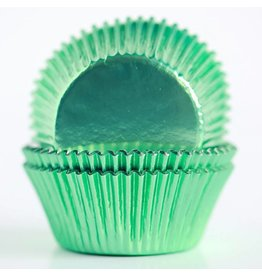 Enjay Enjay - Cupcake liner, Regular Foil, Light Green (500ct)
