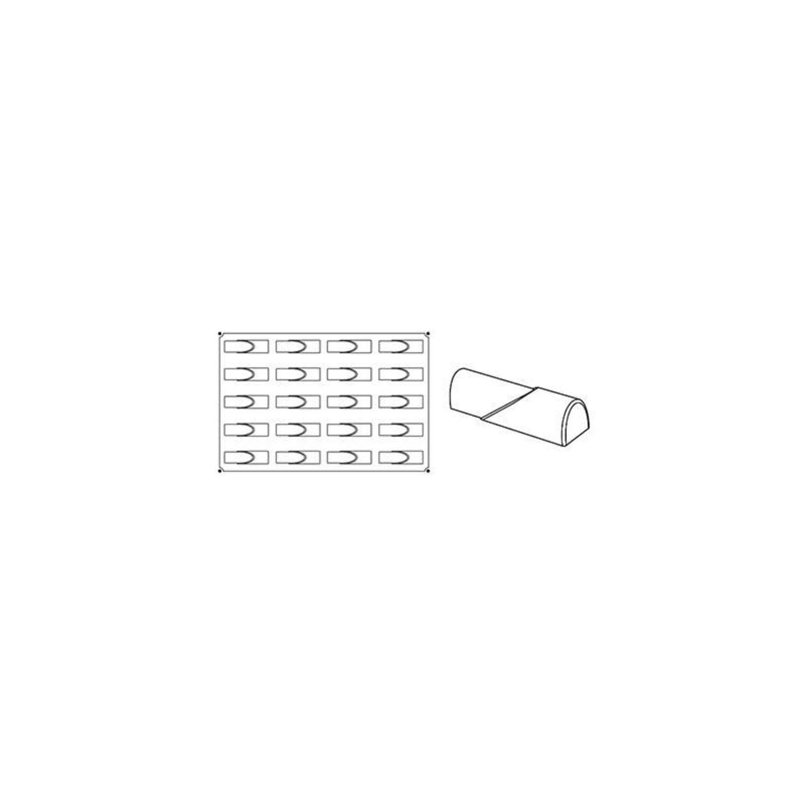 Pavoni Pavoni - Pavoflex silicone mold, Flow, Monoporzione (20 cavity), PX024
