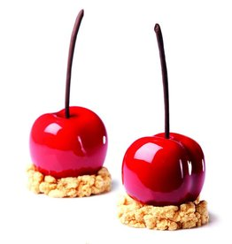 Pavoni Pavoni - Tutti Fruiti silicone mold, Peach/Cherry (20 cavity), PX4331