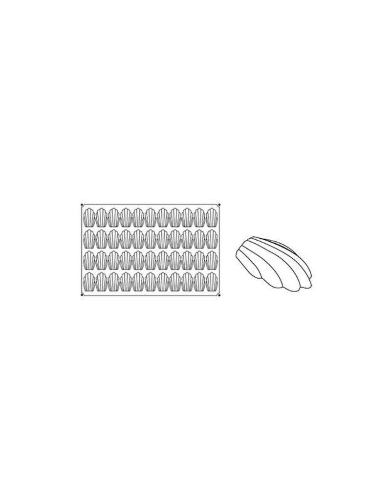 Pavoni Pavoni - Pavoflex silicone mold, Madeleine (44 cavity), PX006
