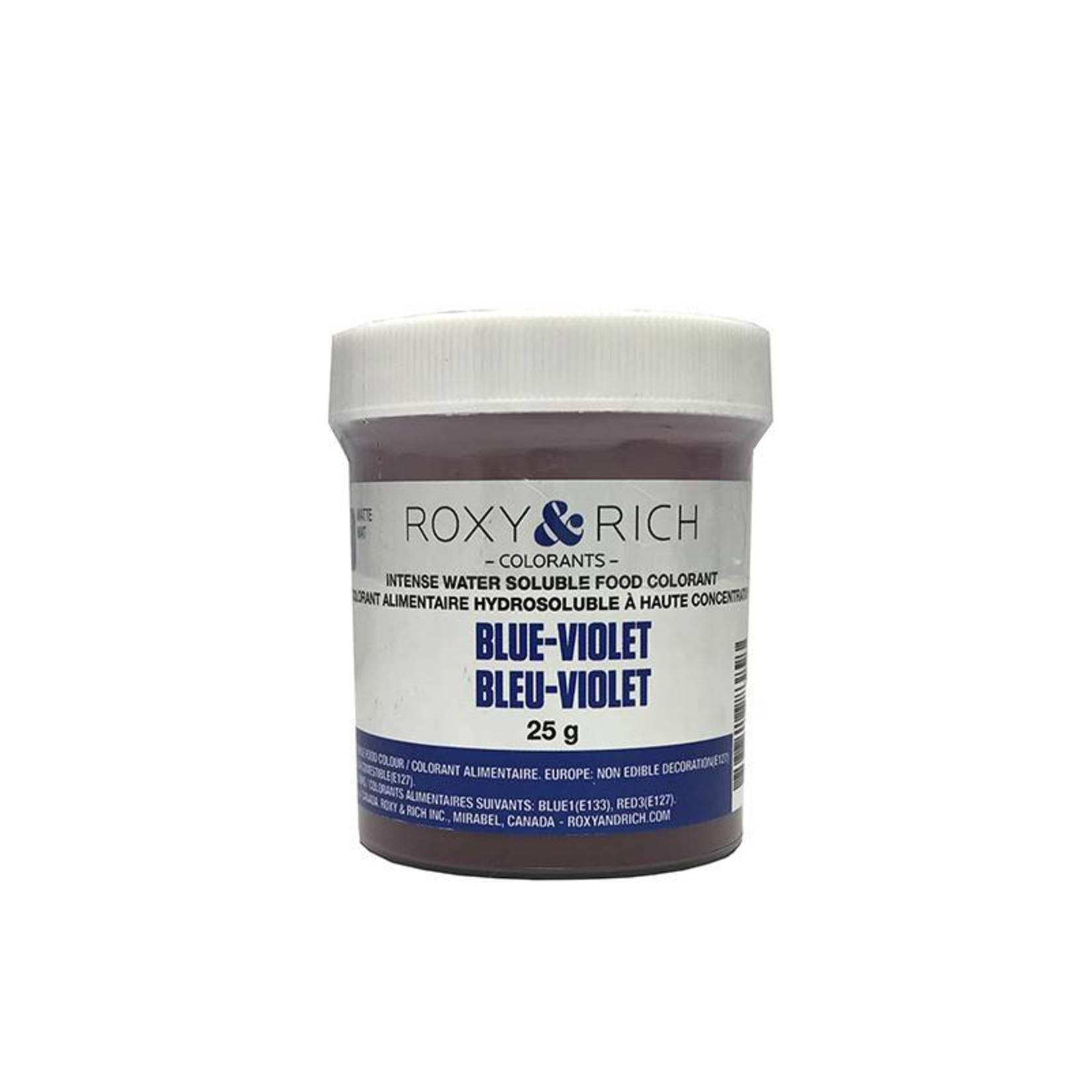Roxy & Rich Roxy & Rich - Water Soluble Powdered Color, Blue Violet 25g