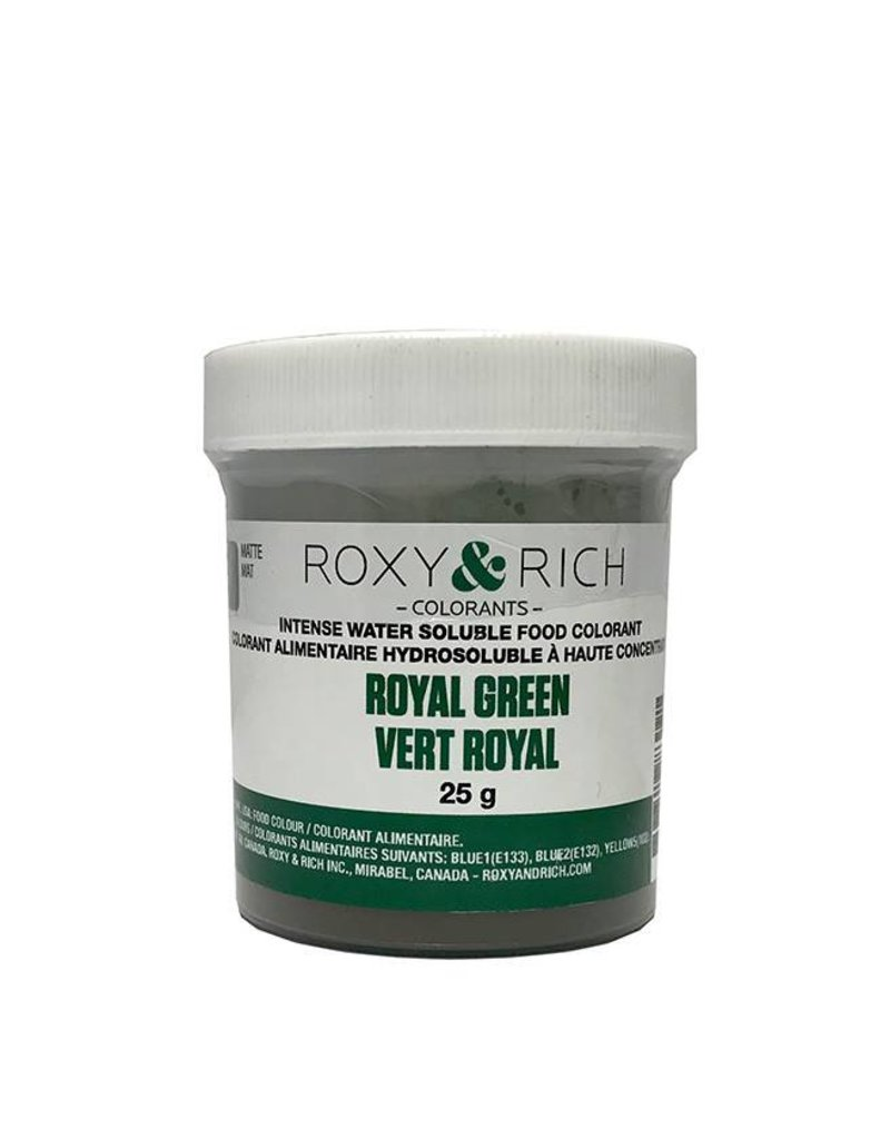 Roxy & Rich Roxy & Rich - Water Soluble Powdered Color, Royal Green 25g