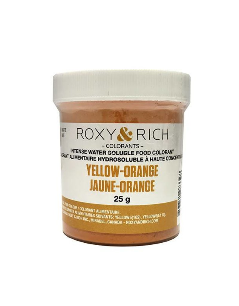 Roxy & Rich Roxy & Rich - Water Soluble Powdered Color, Yellow Orange 25g