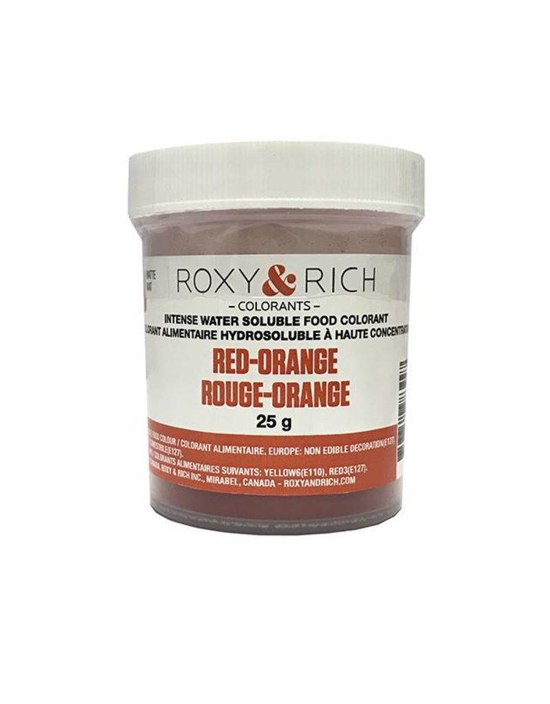 Roxy & Rich Roxy & Rich - Water Soluble Powdered Color, Red Orange 25g