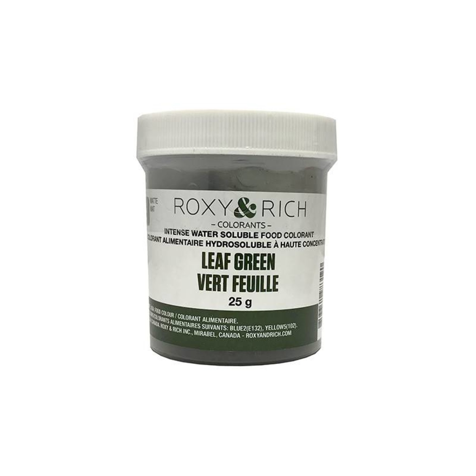 Roxy & Rich Roxy & Rich - Water Soluble Powdered Color, Leaf Green 25g