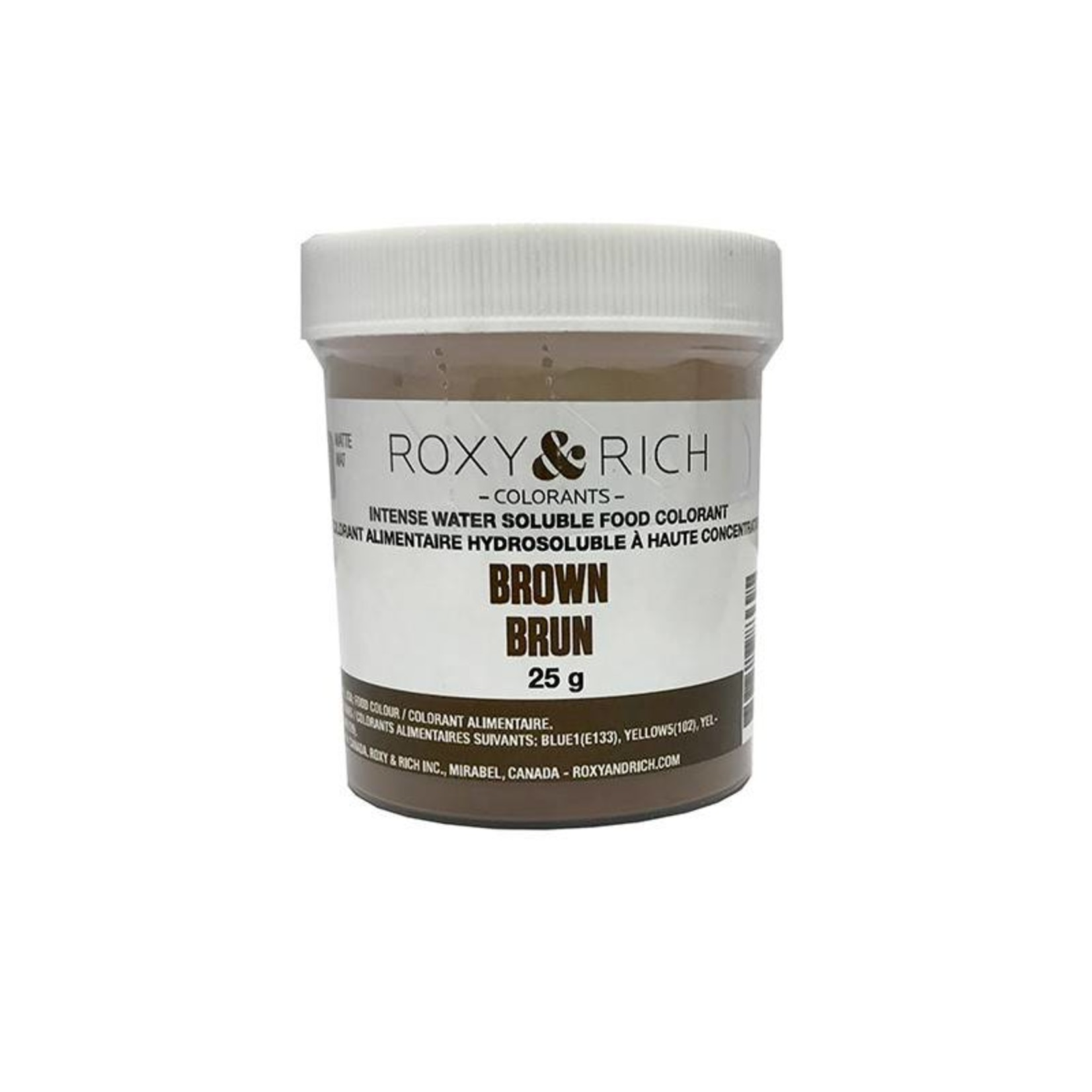 Roxy & Rich Roxy & Rich - Water Soluble Powdered Color, Brown - 25g, H25-007