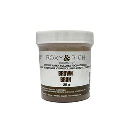 Roxy & Rich Roxy & Rich - Water Soluble Powdered Color, Brown 25g