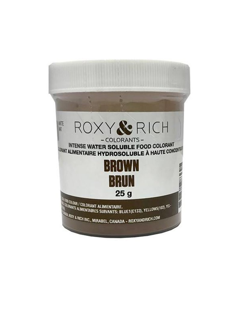 Roxy & Rich Roxy & Rich - Water Soluble Powdered Color, Brown - 25g