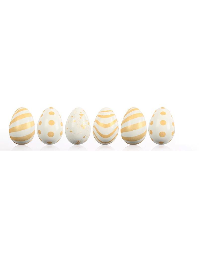 Leman Leman - Chocolate 3D Egg Assortment - White 3.8 x 2.4cm (64ct), 69435
