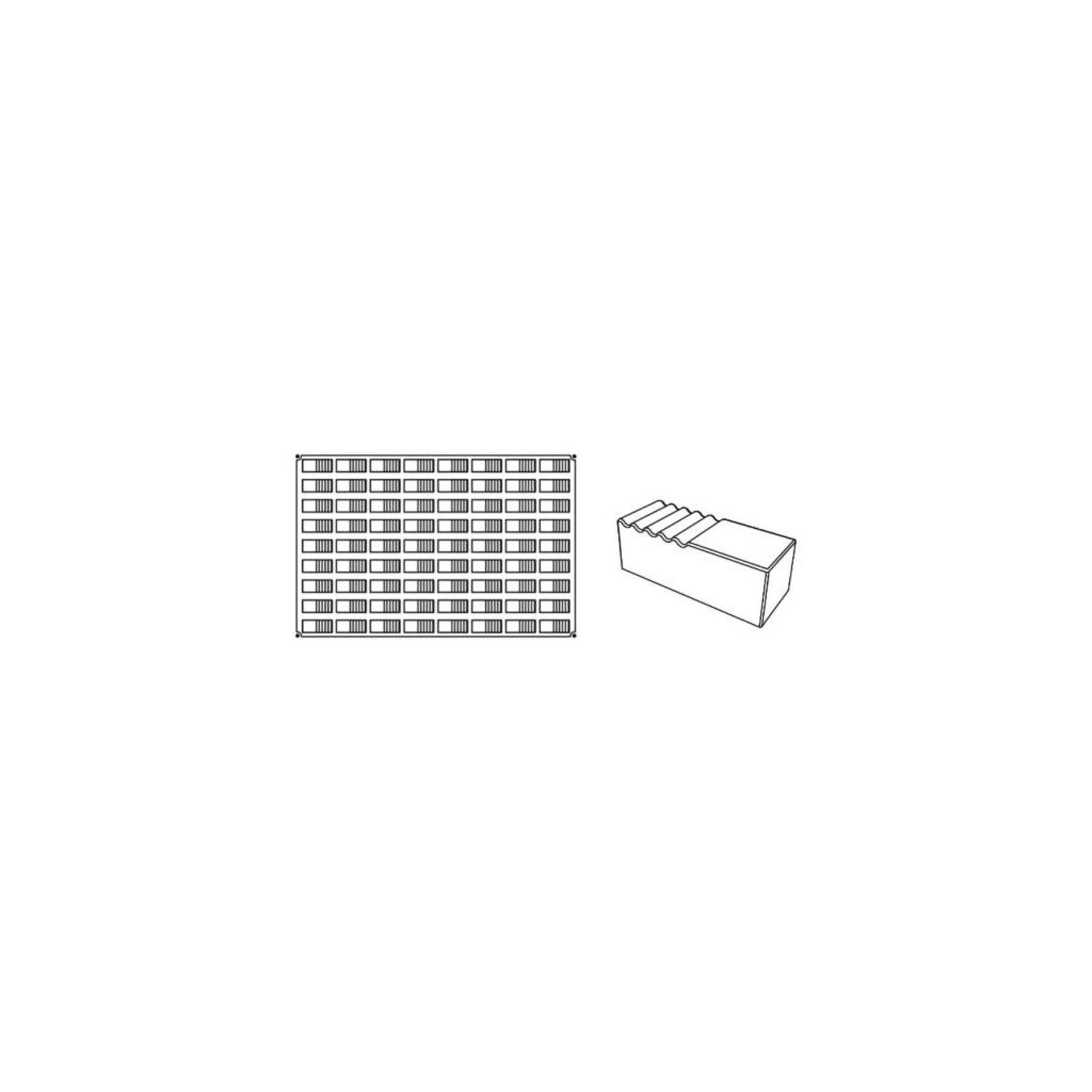 Pavoni Pavoni - Pavoflex silicone mold, Log, Mignon (72 cavity), PX043