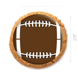 Dobla Dobla - Chocolate Cookie Topper, Football (684ct), 23199