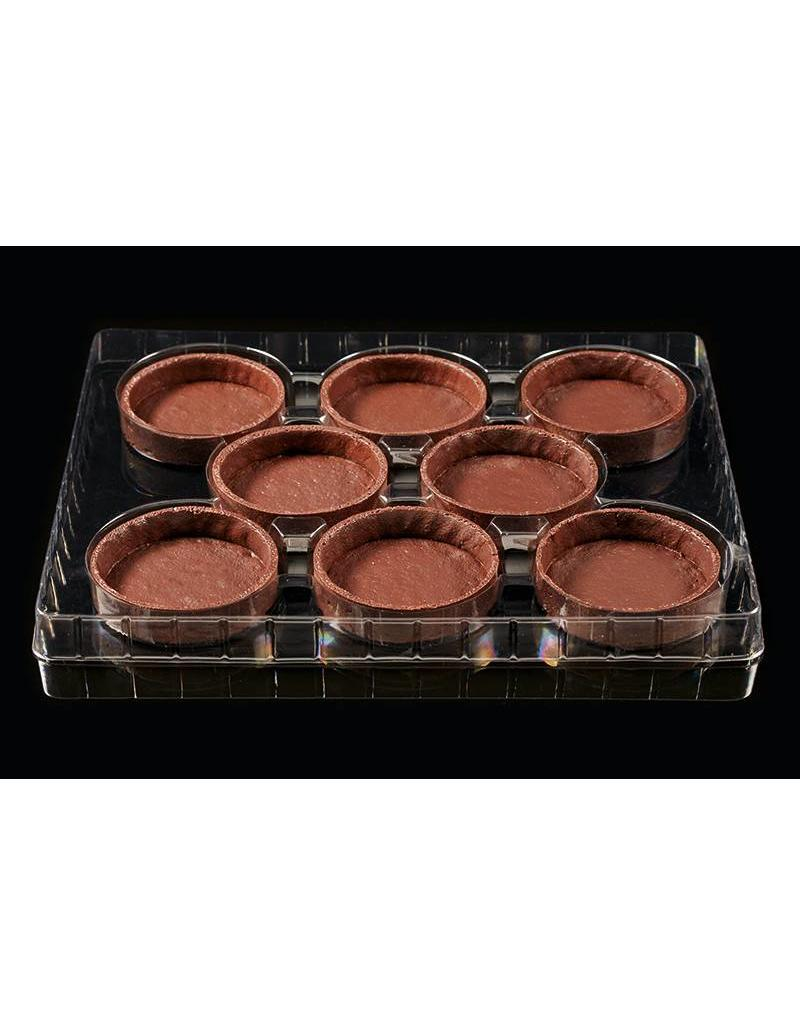 Delifrance Delifrance - Tart shell, round, Chocolate - 4'' (40ct), 78450