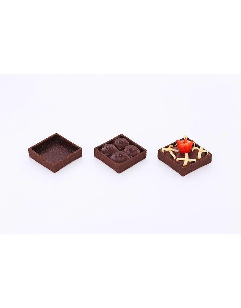 Delifrance Delifrance - Tart shell, Chocolate square - 2'' (100ct), 78452