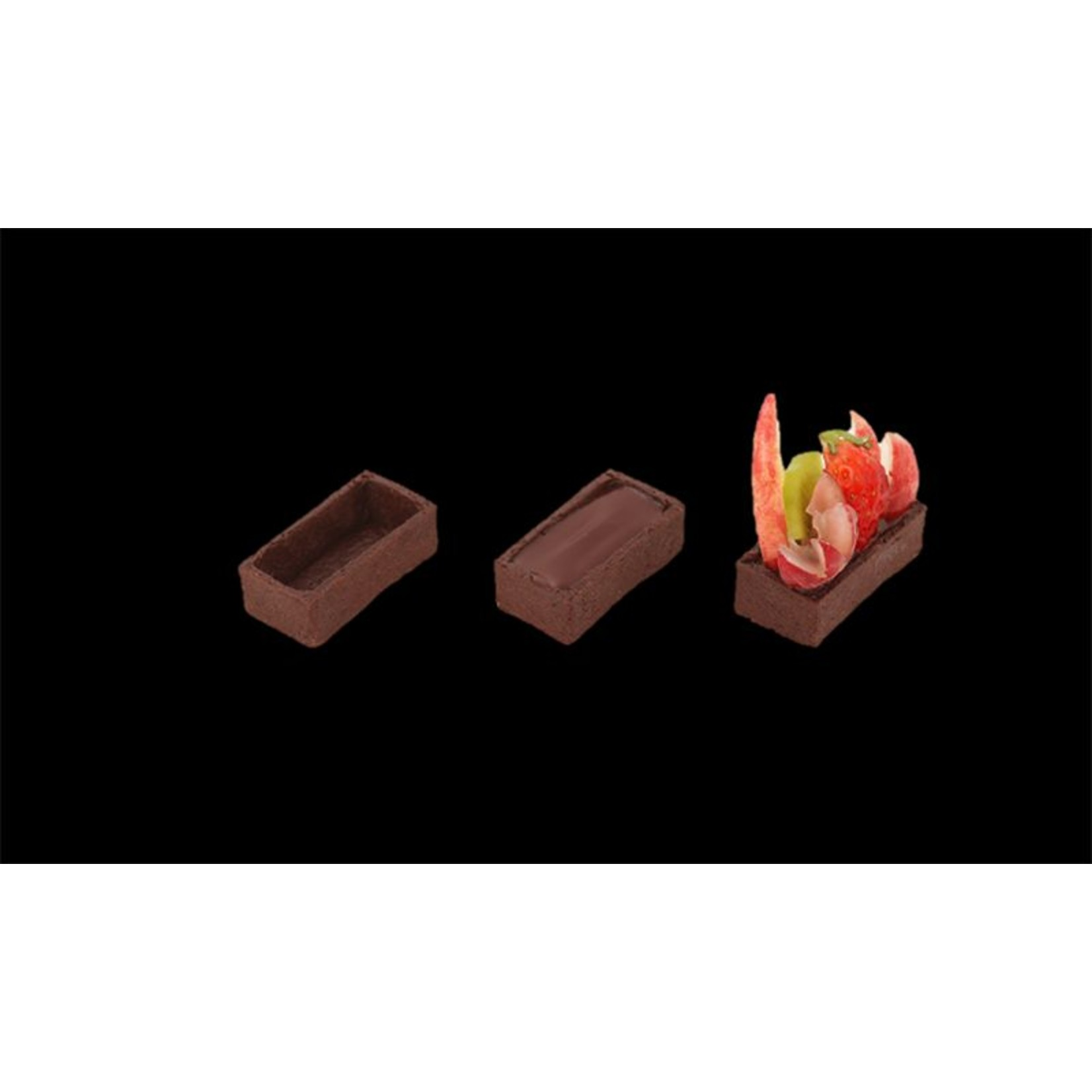 Delifrance Delifrance - Tart shell, Chocolate rectangle - 2x1'' (240ct), 79037